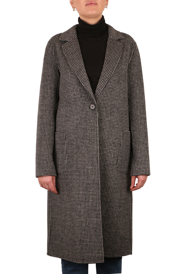 Violetta Houndstooth Coat