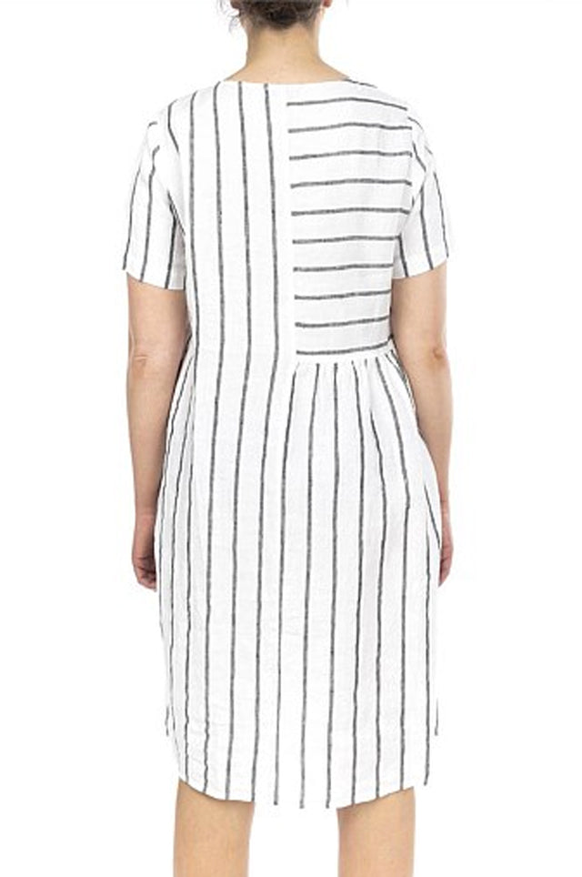Wide Stripe Panelled Dress
