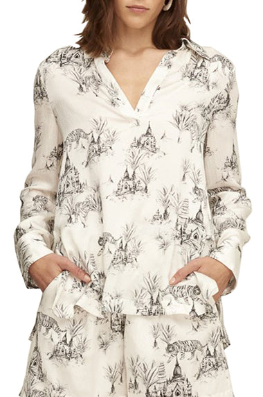 Wild Cat Silk Shirt