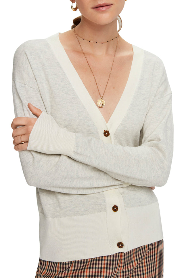 Wool Blend V-Neck Cardigan