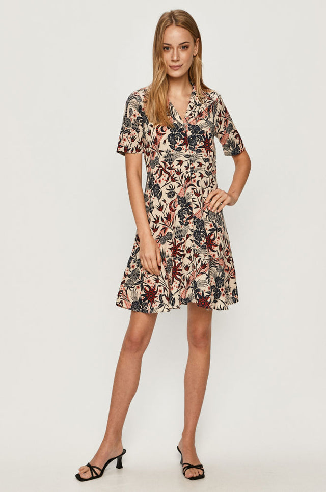 Printed SS Mini Dress