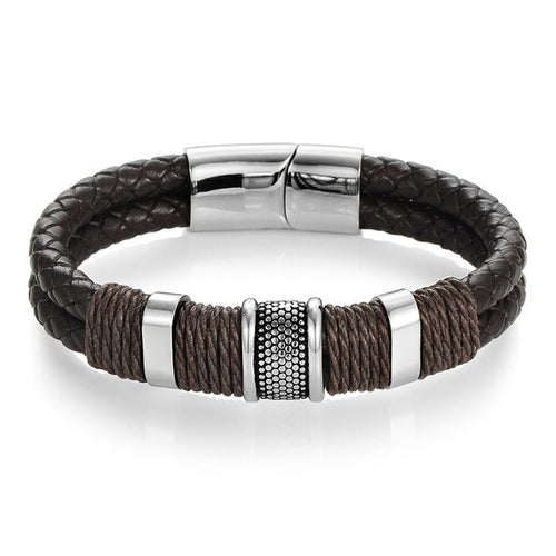 Don - Woven Leather Bracelet - Meyloux Jewellery