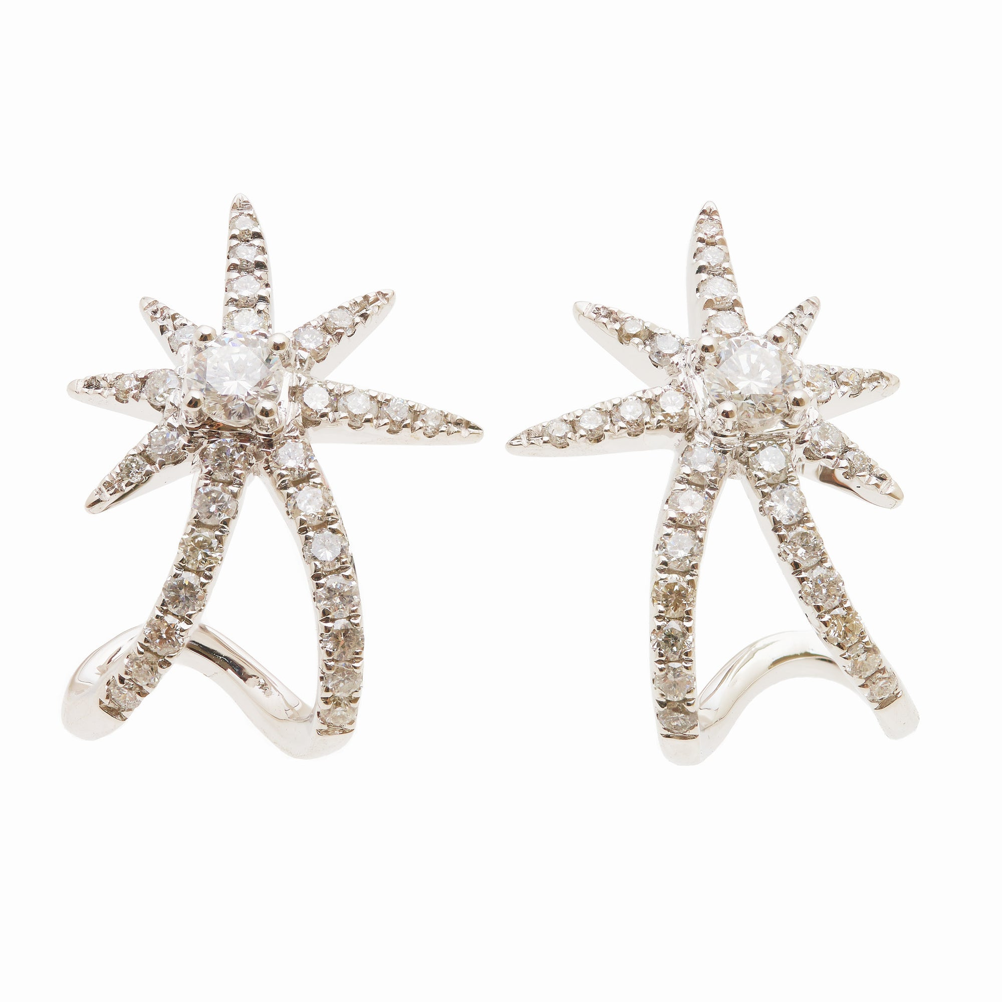 Graziela Diamond Starburst Ear Cuffs