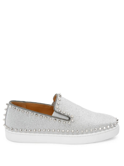 Christian Louboutin Pik Glitter Boat Shoes