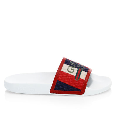 Gucci Gucci Canvas Pursuit Pool Slides