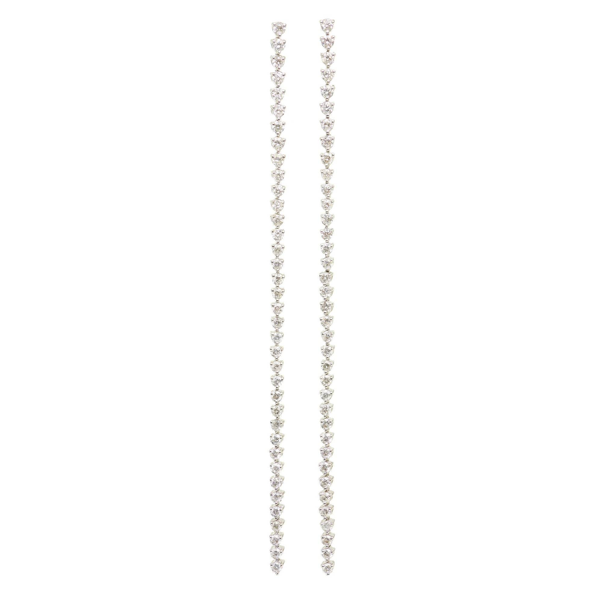 Graziela Long Linear Floating Diamond Earrings