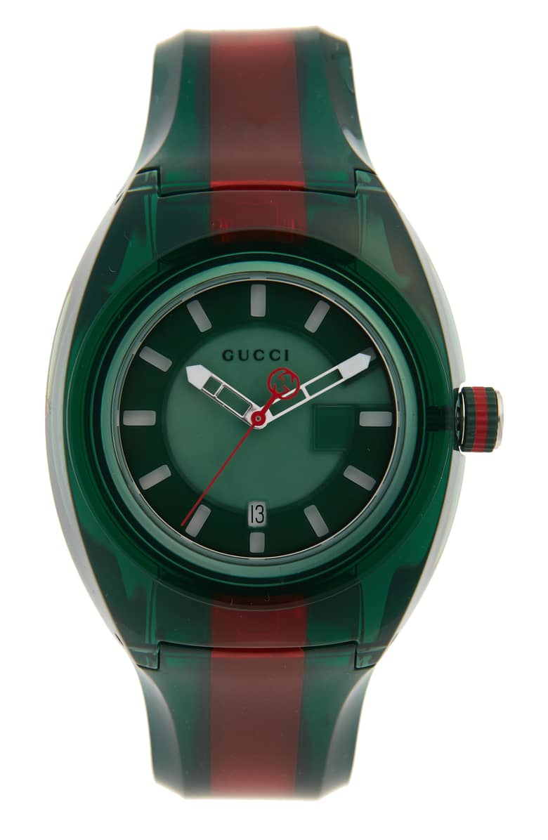 Gucci Sync Transparent Rubber Strap Watch