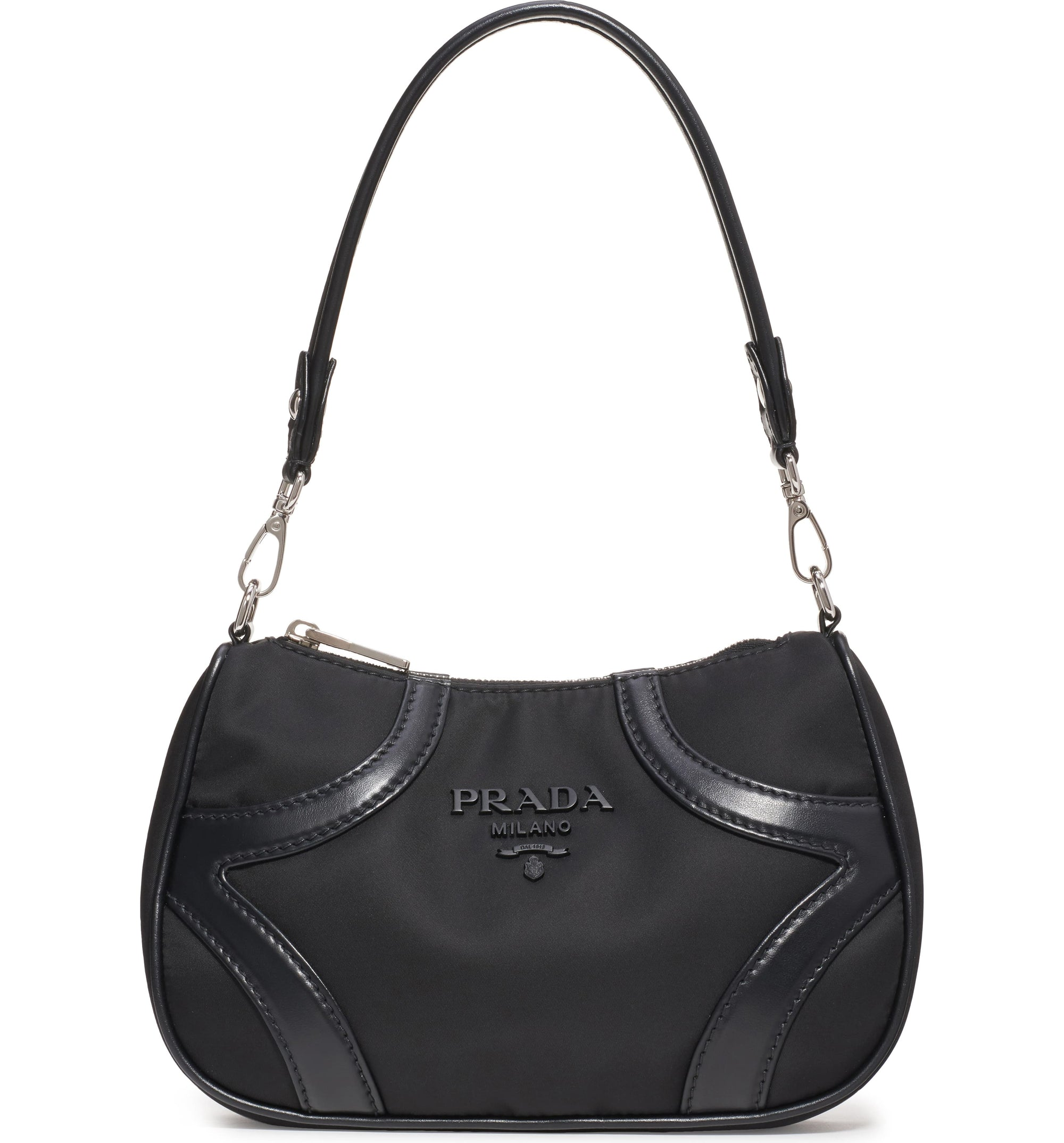 Prada Nylon and Leather Shoulder Bag