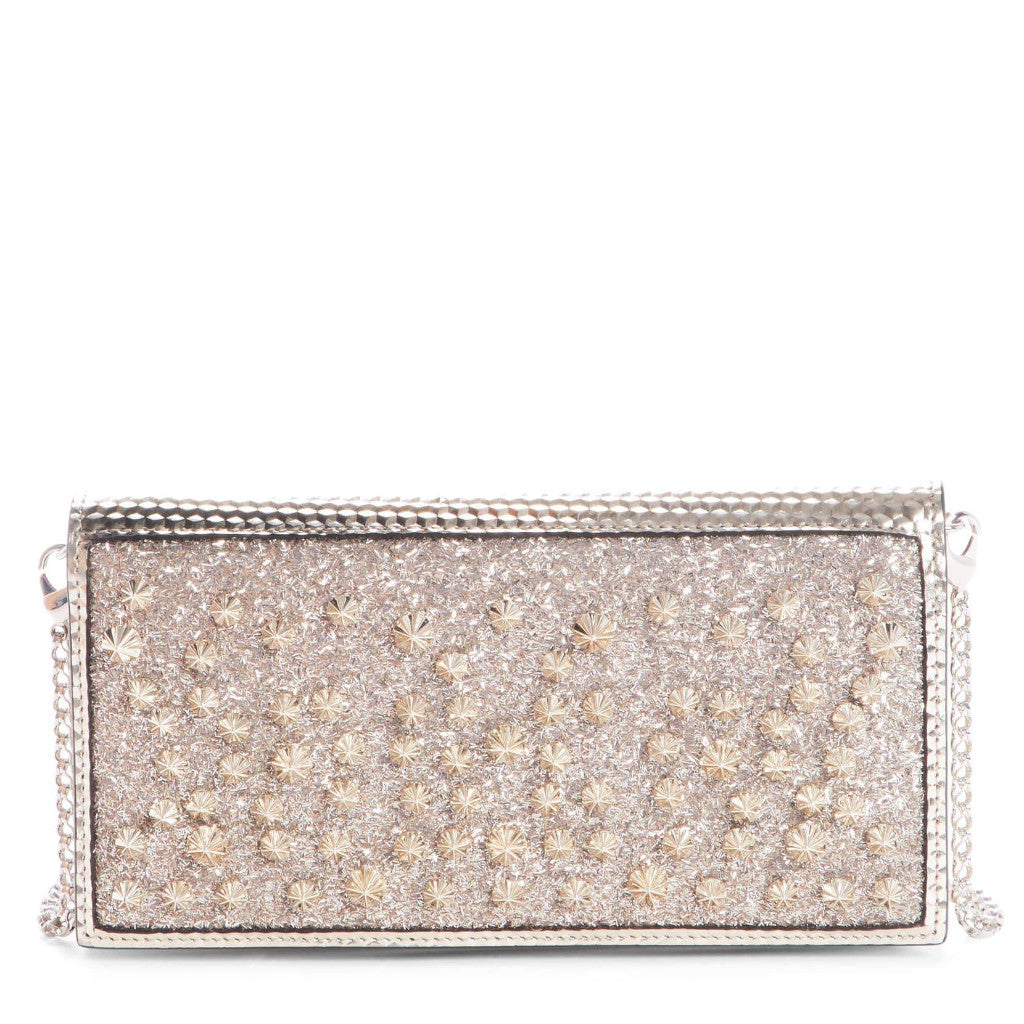 Christian Louboutin Boudoir Studded Wallet on a Chain