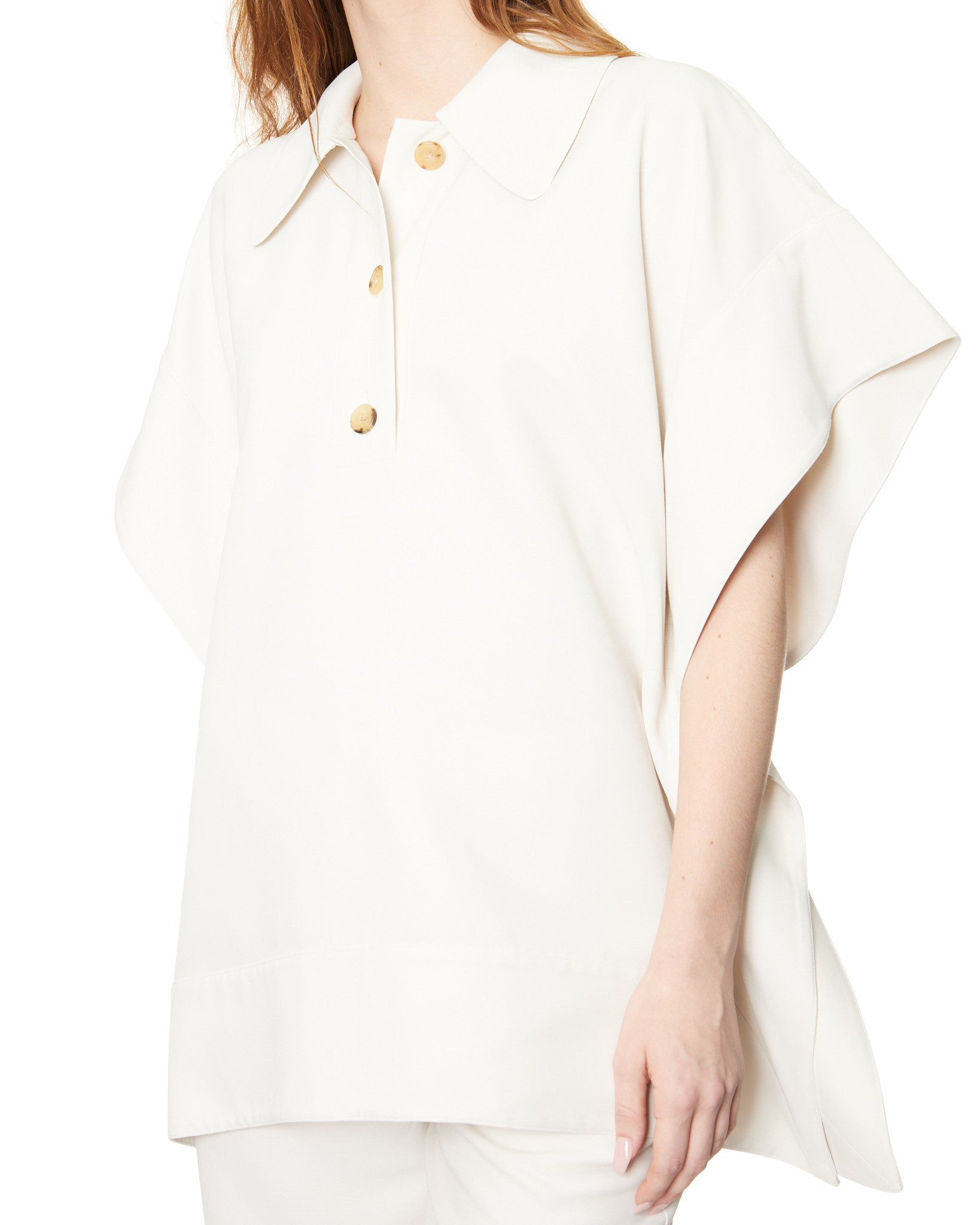 CO FLOUNCE HEM POLO SHIRT