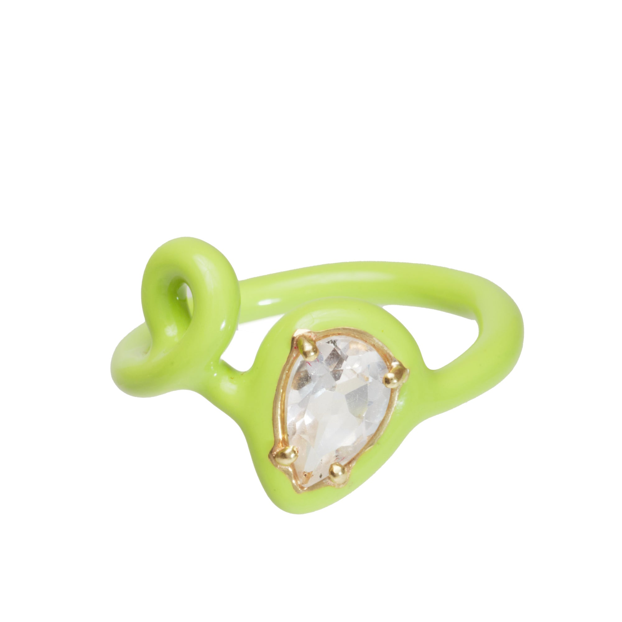 Bea Bongiasca CAN YOU DIG IT? YEAH, BABY! GREEN STACKING RINGS