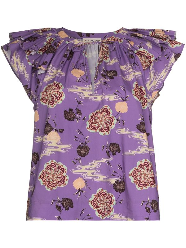 Ulla Johnson Elia flared-sleeve top