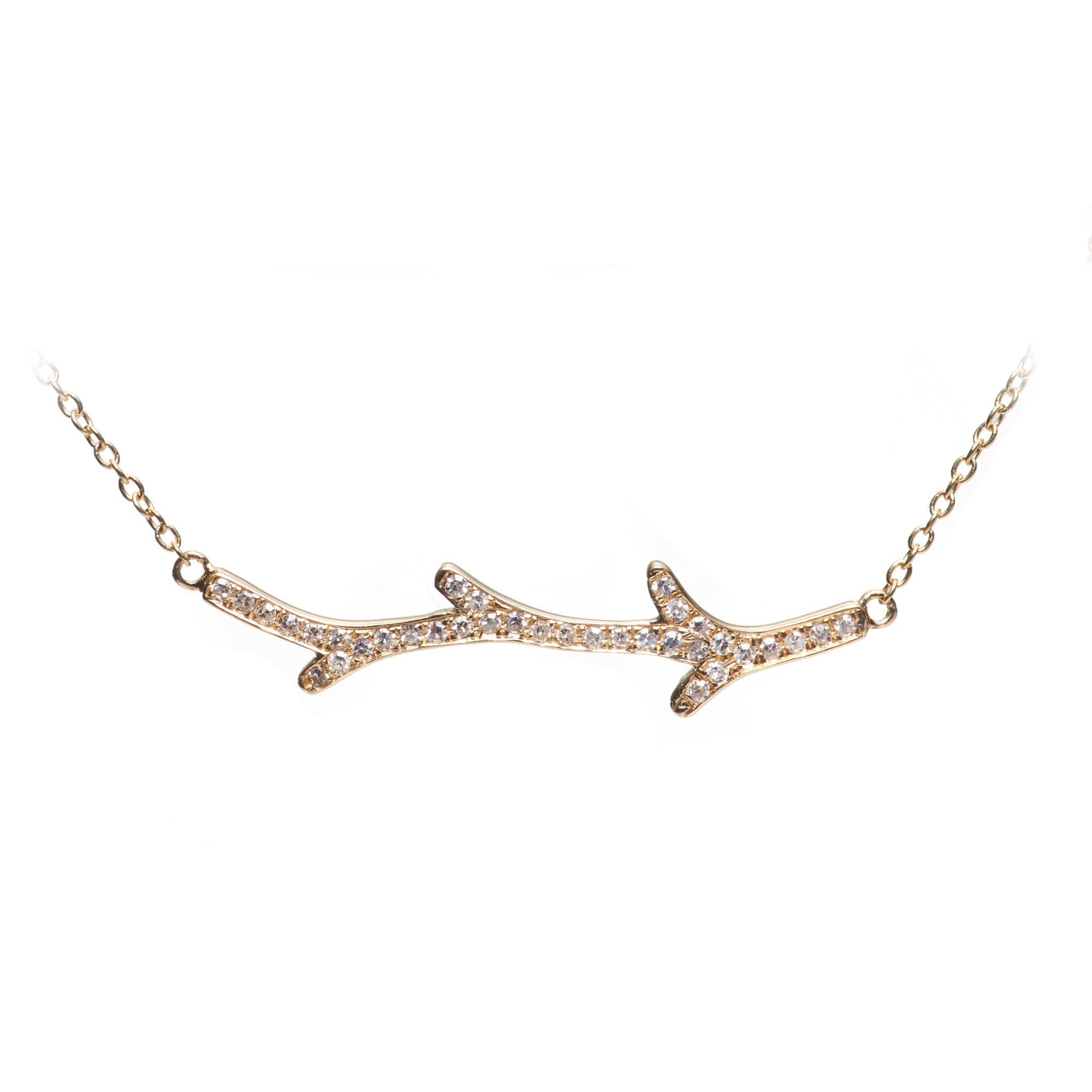 S Carter 14k Dainty Branch Necklace