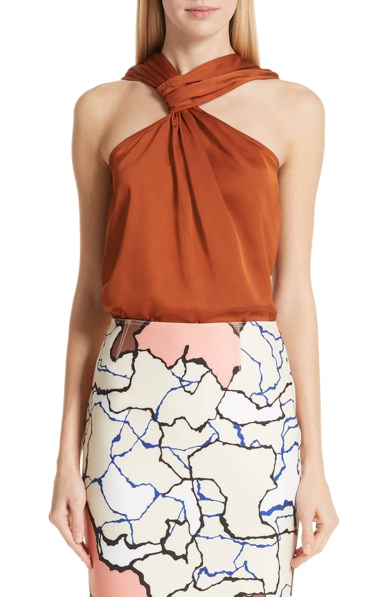 Yigal Azrouel Hammered Satin Top