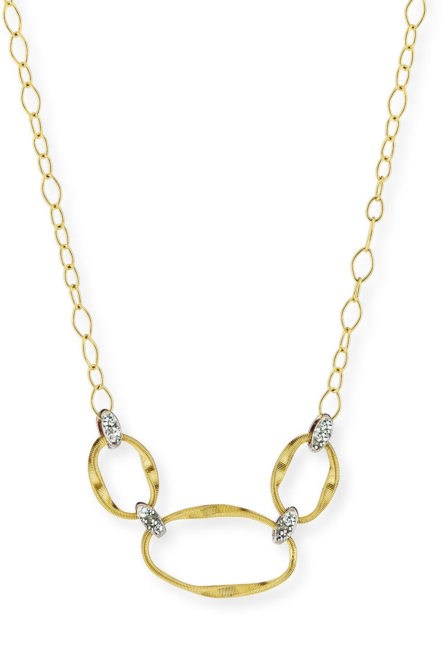 Marco Bicego Marrakech Onde 18k Diamond Half Necklace