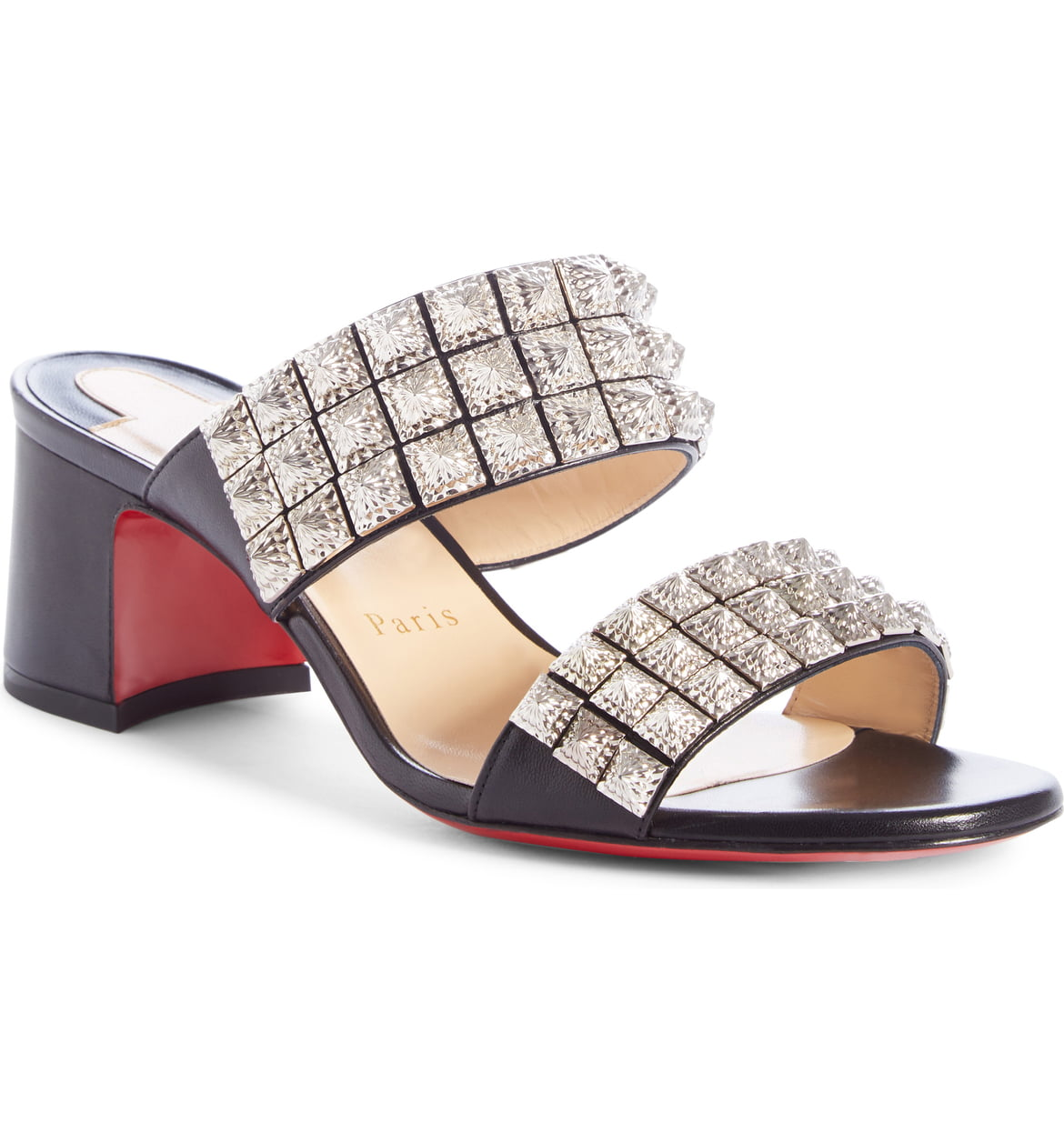 Christian Louboutin Myriadiam Studded Slide Sandals