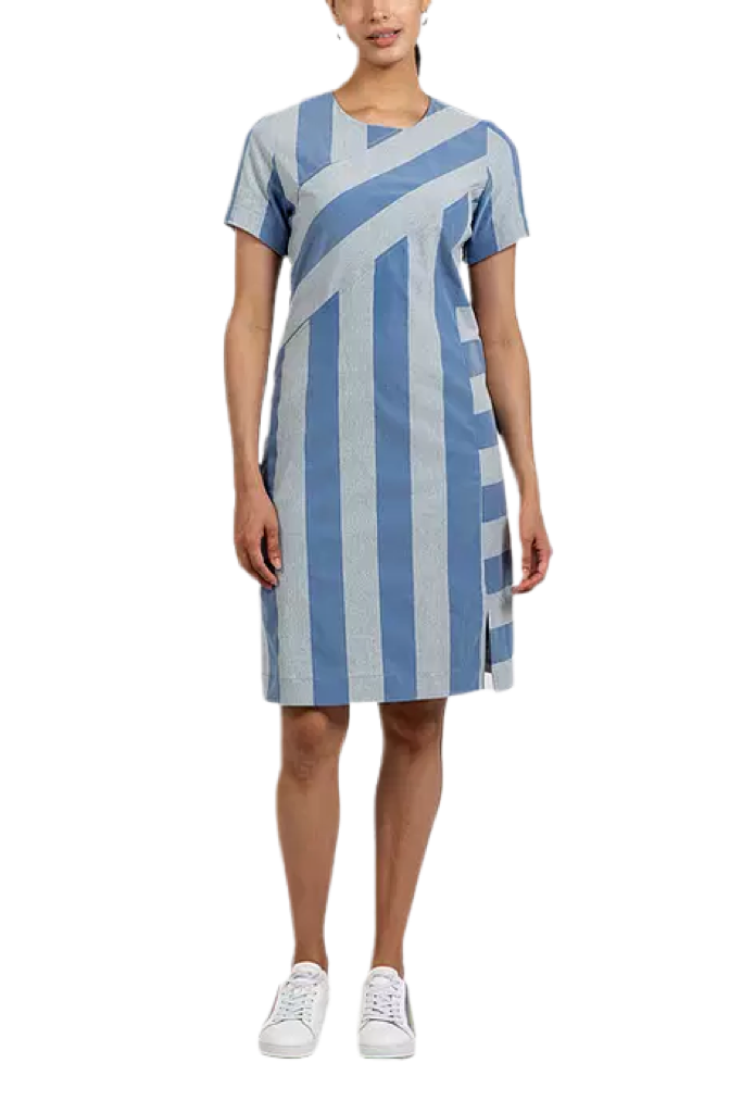 Hilton Hollis HEATHERED STRIPE DRESS