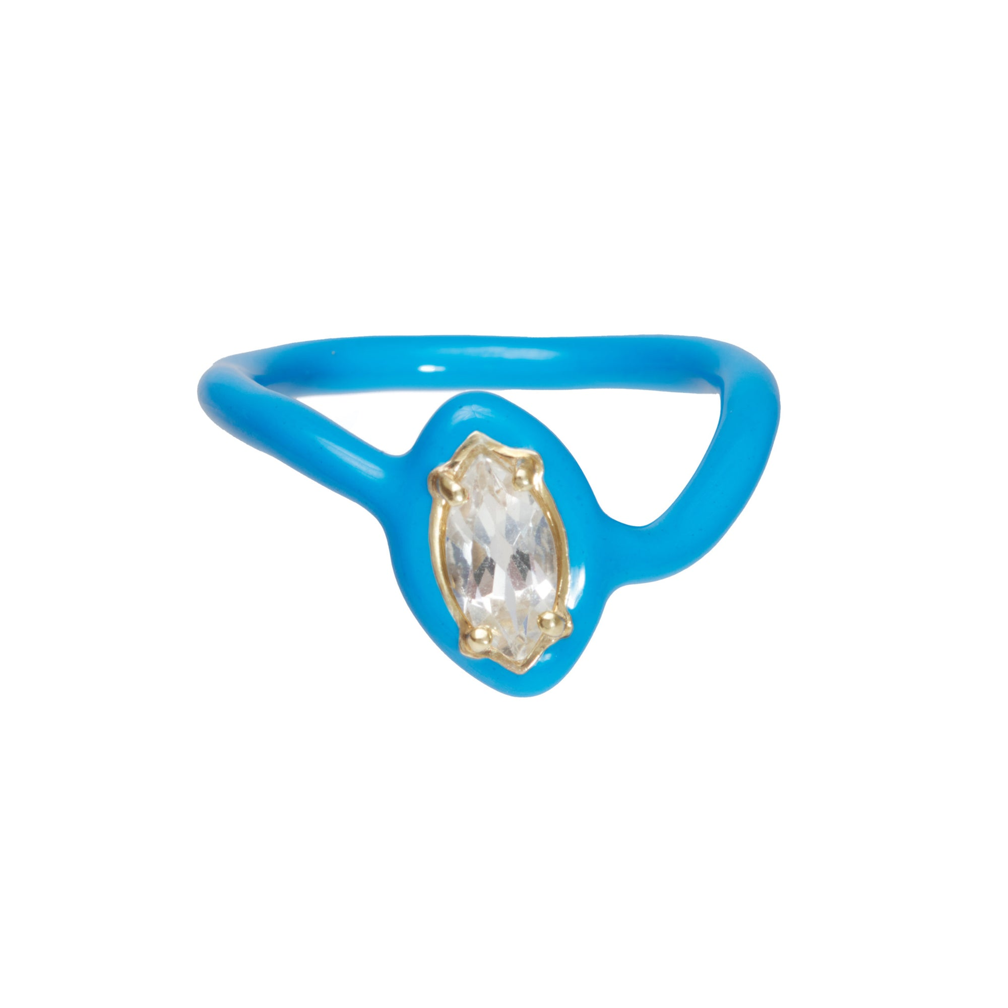 Bea Bongiasca CAN YOU DIG IT? YEAH, BABY! BLUE STACKING RINGS