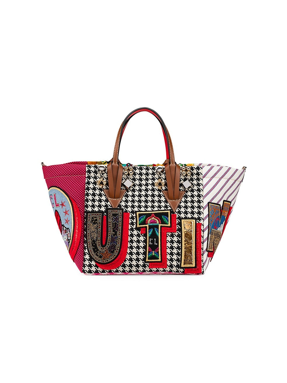 Christian Louboutin Caracaba Small Mix-Print Tote Bag