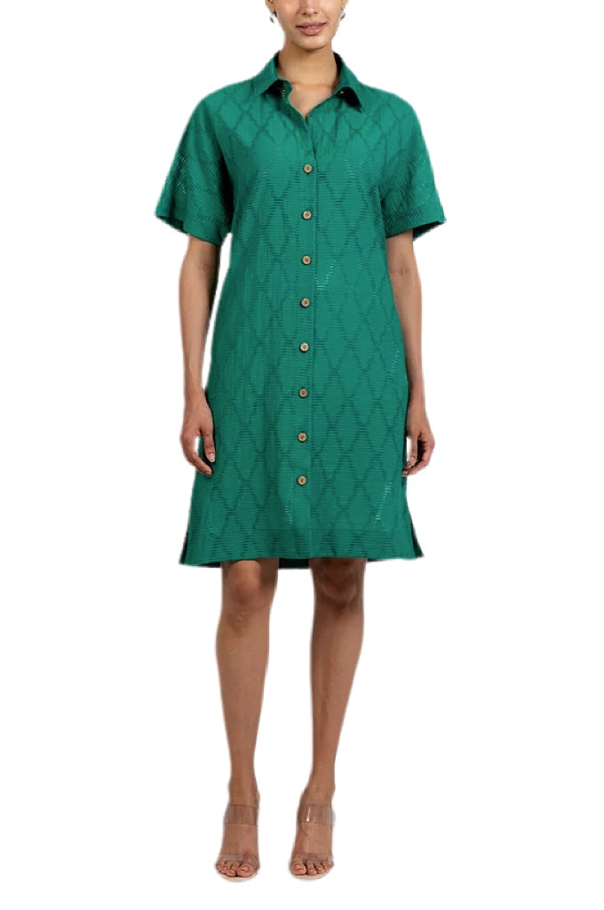 Hilton Hollis Trellis Jacquard Shift Dress