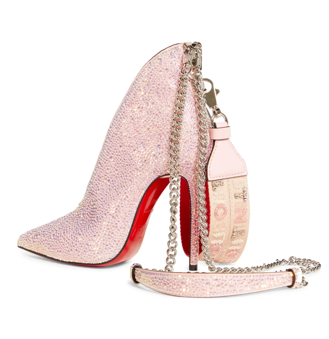 Christian Louboutin A.B. Charm Crystal Logo Shoulder Bag