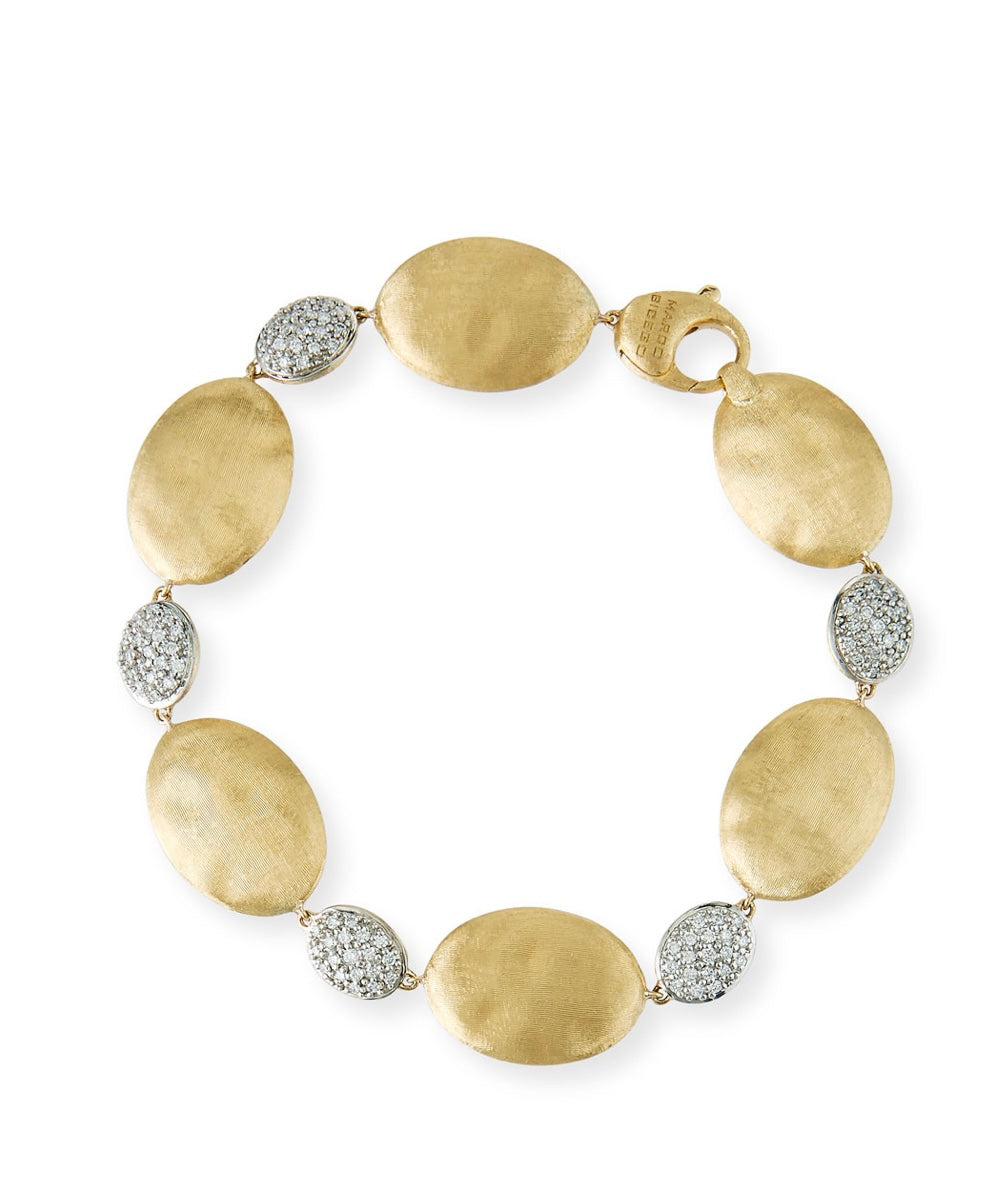 Marco Bicego Large Siviglia Bead Bracelet with Diamonds