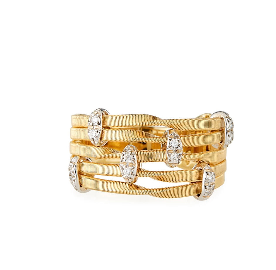 Marco Bicego Marrakech Onde 18k 5-Strand Diamond Ring