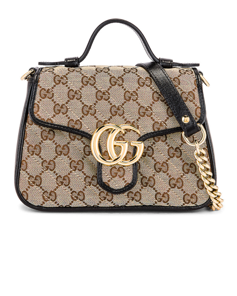Gucci Marmont Top Handle Shoulder Bag