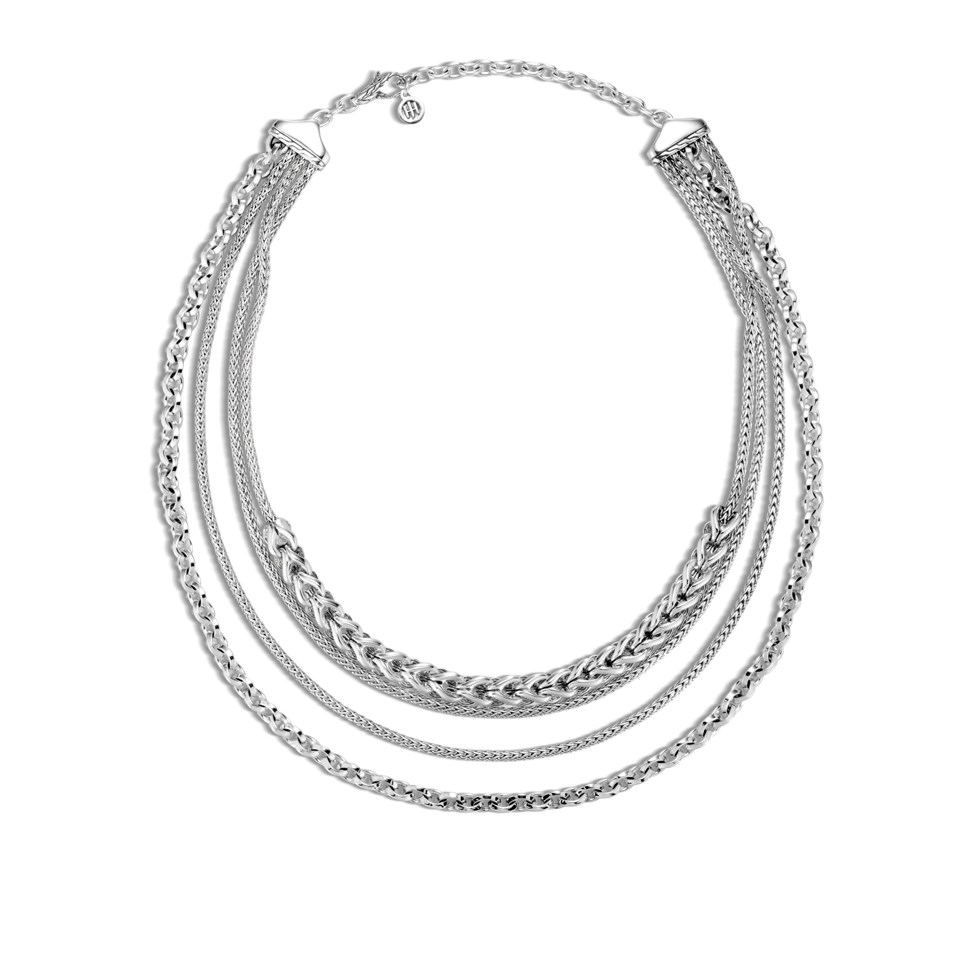 John Hardy Asli Classic Chain Link Multi Row Necklace