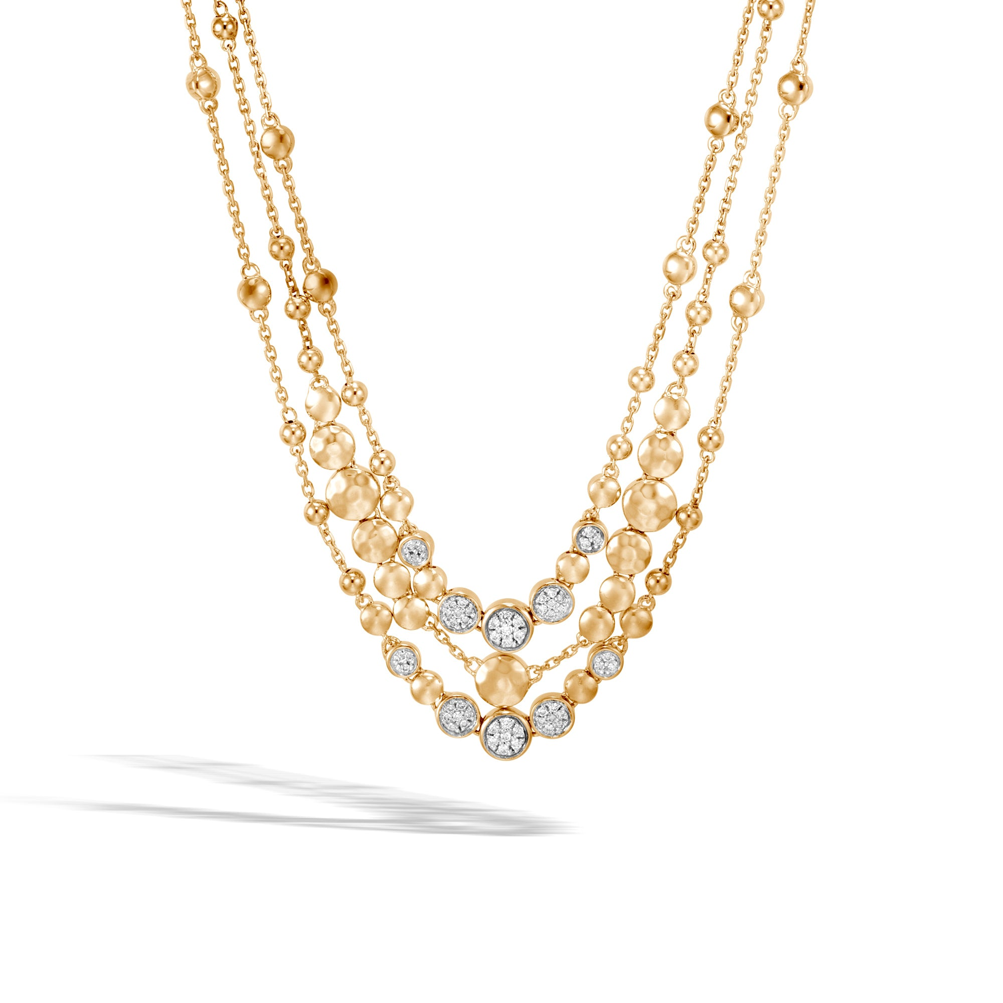 John Hardy Dot Multi Row Necklace