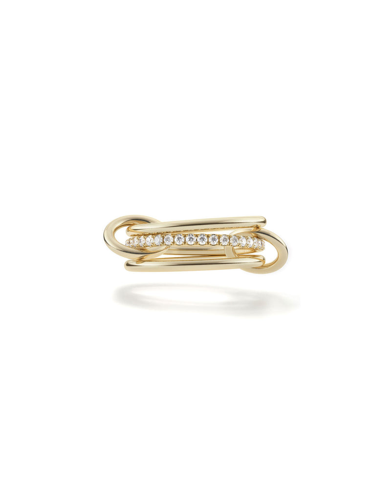 Sinellie Kilcollin Sonny 3-Link Micropave Diamond Ring