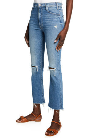 The Hustler Ankle Fray Distressed Jeans
