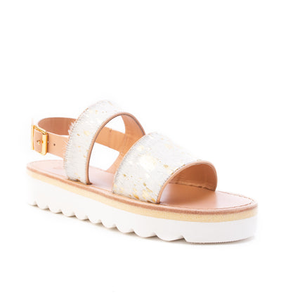 Sanchita Double Band Platform Sandals