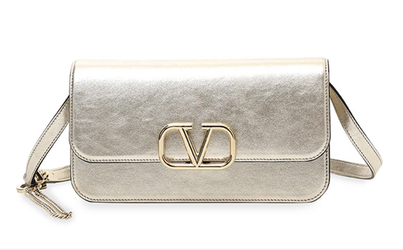 Valentino Garavani VSling MEtallic Clutch Bag