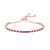 Graziela Ruby and Diamond Bolo Bracelet