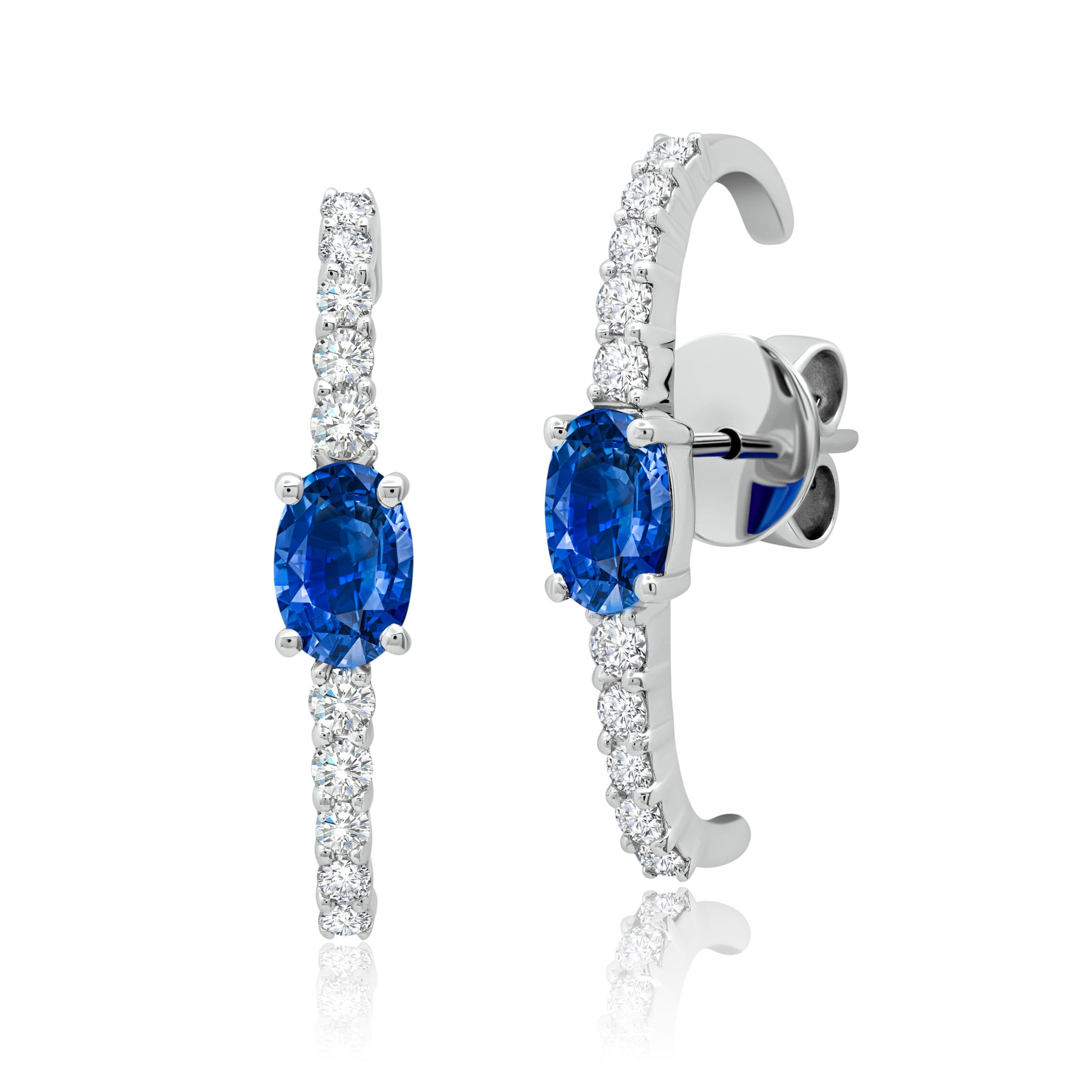 Graziela Diamond and Sapphire Cage Earring