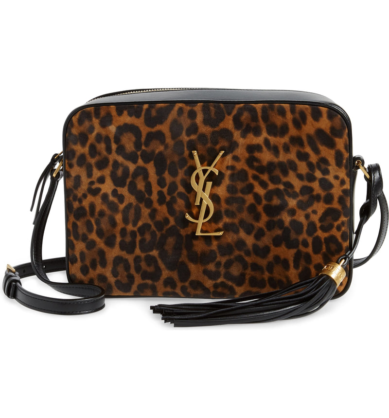 Saint Lauren Lou Leopard Cross Body Bag