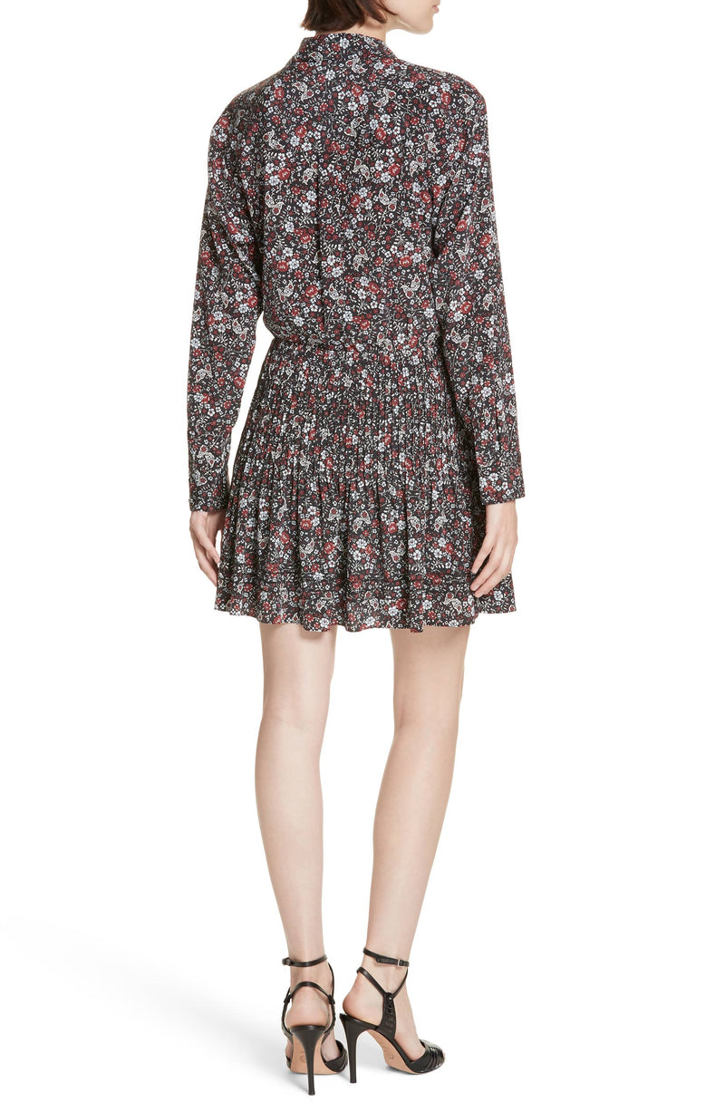 Veronica Rory Stretch Silk Shirtdress