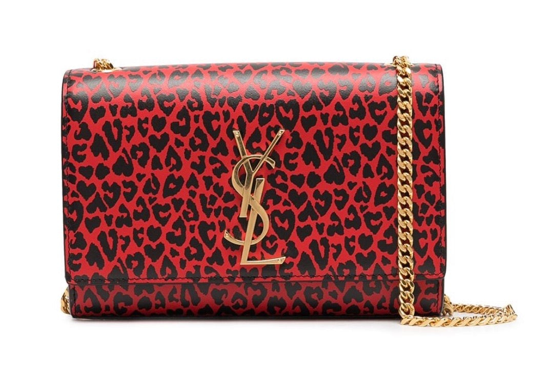 Saint Laurent Kate Leopard Print Shoulder Bag