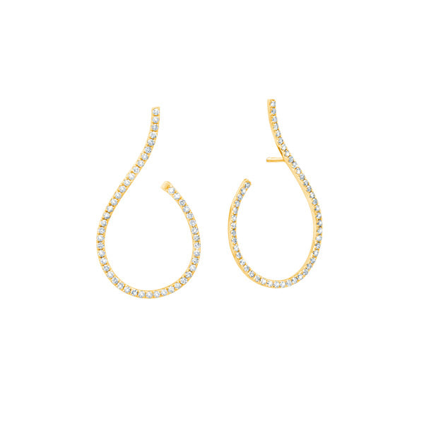Graziela Mega Swirl Diamond Earrings