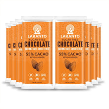 Load image into Gallery viewer, Sugar Free 55% Chocolate Bars - Almond - Display of 8
