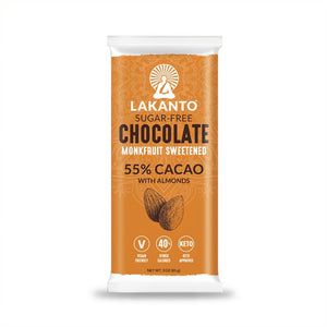Sugar Free 55% Chocolate Bars - Almond - Case of 64