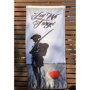 ANZAC Day Day Fence Flag Vertical