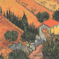 VINCENT VAN GOGH Postcard: Landscape with House and Ploughman, 1889 - Busy Bee Emporium