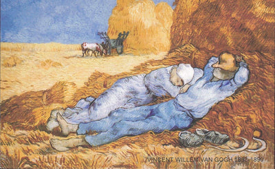 VINCENT VAN GOGH Postcard: Noon, or The Siesta, after Millet, 1890 - Busy Bee Emporium