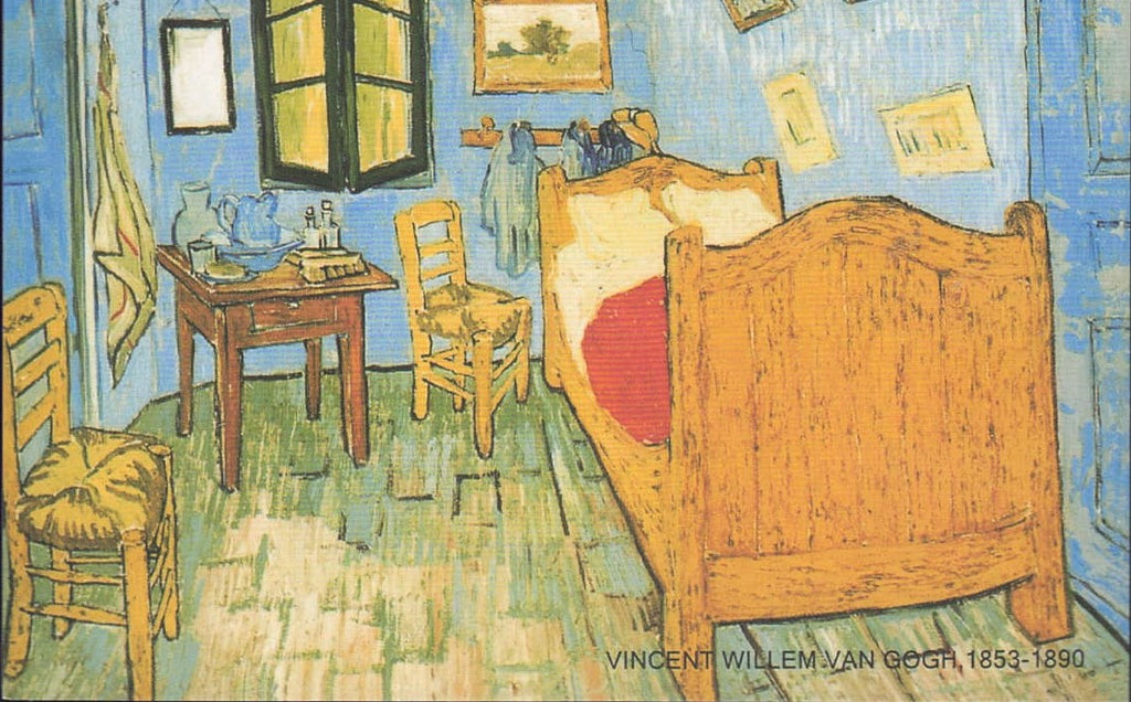VINCENT VAN GOGH Postcard: The Bedroom 🖼 Famous Painting 🖼 - Busy Bee Emporium