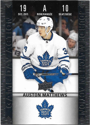 Tim Horton's Upperdeck Hockey Insert: Game Day Action: HGD-10 Auston Matthews