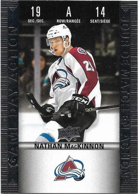 Tim Horton's Upperdeck Hockey Insert: Game Day Action: HGD-14 Nathan MacKinnon