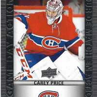 Tim Horton's Upperdeck Hockey Insert: Game Day Action: HGD-2 Carey Price - Busy Bee Emporium