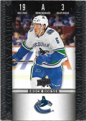 Tim Horton's Upperdeck Hockey Insert: Game Day Action: HGD-3 Brock Boeser - Busy Bee Emporium